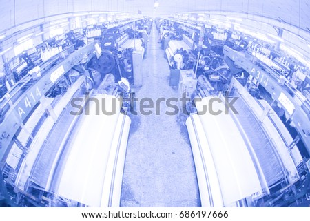 Modern Textile Workshop India Enterprises Invest Stock Photo (Edit