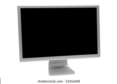 The modern and thin display on a white background
