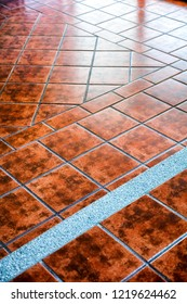 Modern tile floor with textured decor