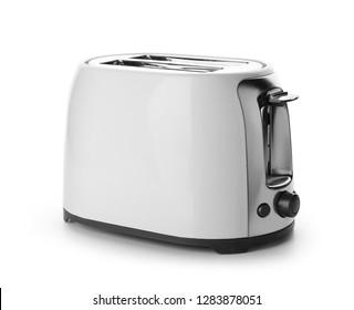 Modern toaster on white background