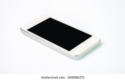 modern touch screen smartphone on white background