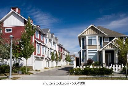 Modern townhouses in Richmond, British Columbia