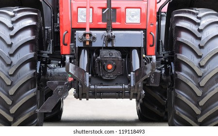 Modern Tractor Close-Up