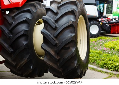 Modern Tractor Close-Up New tractor wheels