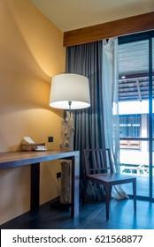 Modern tropical workspace, Living room interior design / home decoration & renovation conceptual