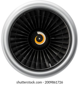 Modern turbofan engine. close up of turbojet of aircraft. blades of the turbofan engine of the aircraft. turbine aircraft.