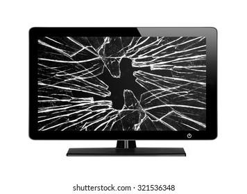 Broken Tv Images, Stock Photos & Vectors | Shutterstock