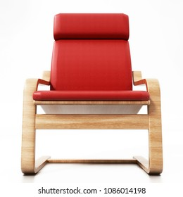Modern TV chair isolated on white background. 3D illustration.