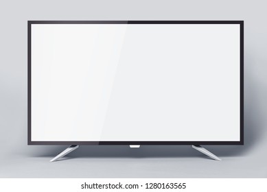 Modern TV or PC monitor on a gray background.