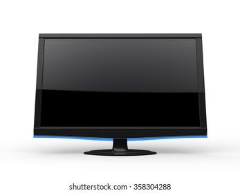 Modern TV screen - front view