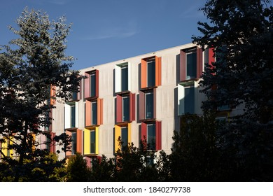 Modern university student apartment accommodation.