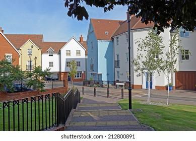 Modern urban housing in a UK town centre.(Colchester, Essex, UK)