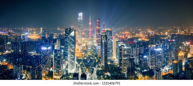 Modern urban landscape in guangzhou, China