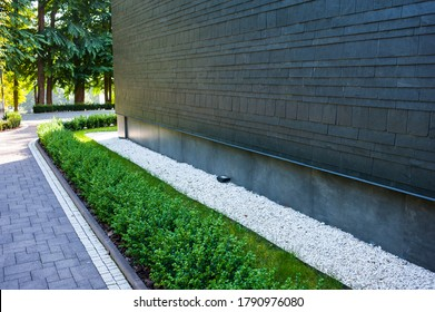 Modern urban solutions for landscaping near houses