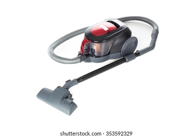 Modern vacuum cleaner isolated