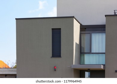 modern villa building facades and details of village in south german bavaria countryside