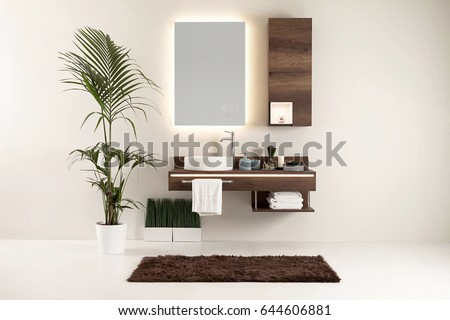 modern wall clean bathroom style and interior decorative design
