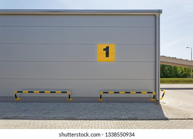 Modern Warehouse Building With Number One Sign