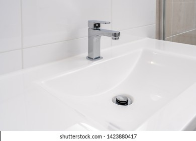 Modern Washbasin with stainless faucet tap ware in Australian Home