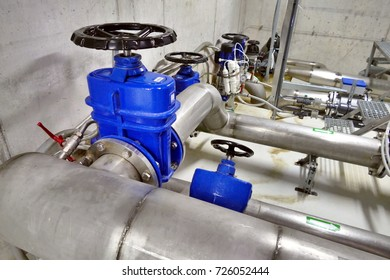 Modern water filtrating system - adding chlorine to water