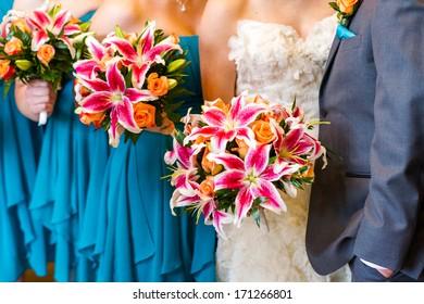 Modern western wedding ceremony.
