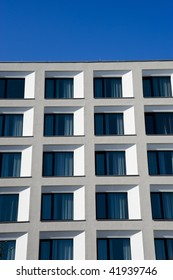 Modern white apartment building in Berlin, Germany