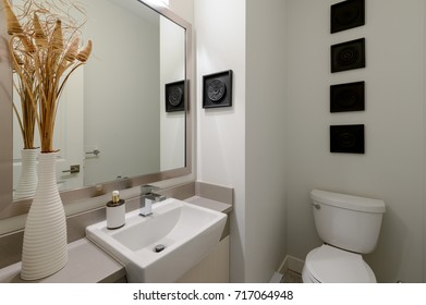 Modern white bathroom. Interior design.