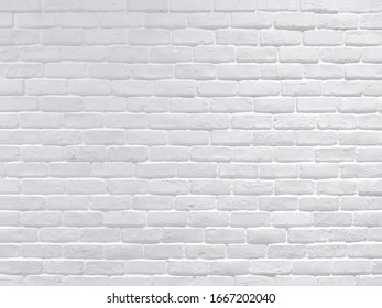 Modern white brick wall background texture.