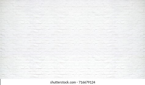 Modern white brick wall texture for background - Shutterstock ID 716679124