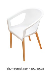 modern white chair isolated on white background
