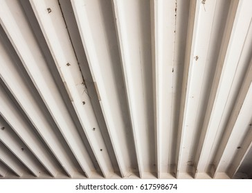 Modern white concrete  ceiling background.