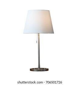 Modern white lamp isolated on white background.