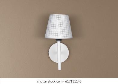 Wall lamps imgenes fotos y vectores de stock shutterstock modern white lamp on wall stylish lamp wall lights aloadofball Gallery