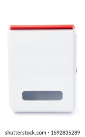 Modern white mail box isolated on white background with clipping path.