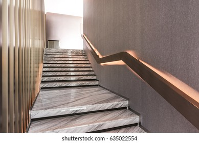 Modern White Marble Stairs For Luxury Interior