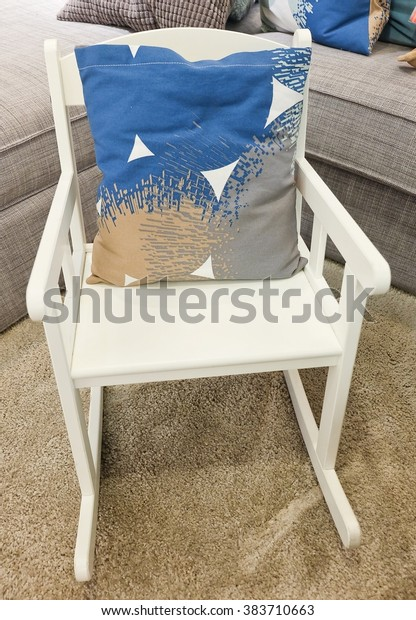 Incredible Modern White Rocking Chair Decorative Pillow Stock Photo Bralicious Painted Fabric Chair Ideas Braliciousco