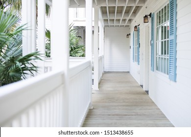 Modern white timber hampton timber style home balcony verandah porch outdoors holiday airy outdoors home white and bright