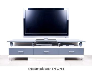 Modern White TV Cabinet