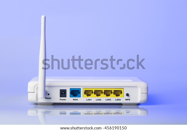Modern Wifi Home Router Antenna On Stock Photo (Edit Now