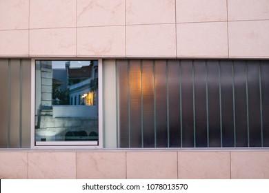 Modern window details of an public portuguese building