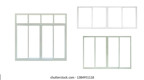 modern windows frame design set isolated on white background