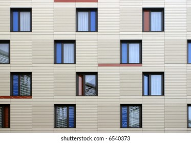 Modern windows mosaic in contemporary modular facade system