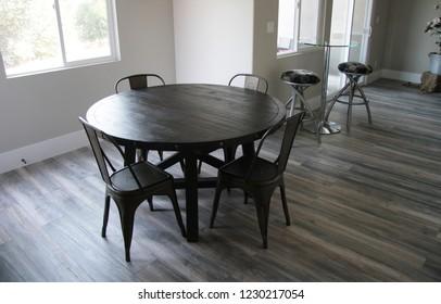 Modern wood dining room table