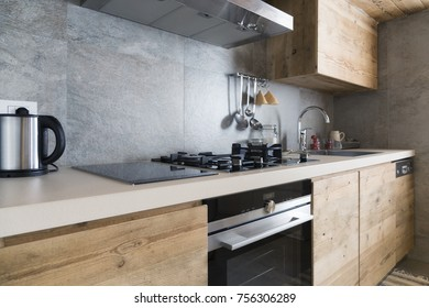 modern wood kitchen counter