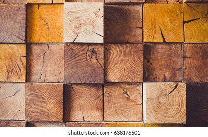 Modern Wooden Background for your Design with Copy Space. Toned Texture with Different kind of Wood