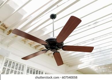 Ceiling fan blades images stock photos vectors shutterstock modern wooden ceiling fan vintage style aloadofball Images