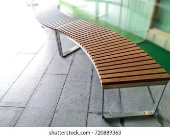 Modern wooden garden bench design