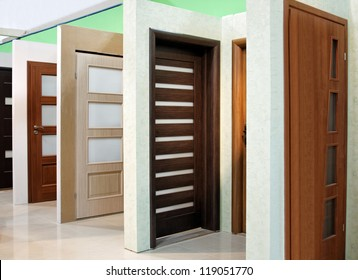 modern wooden office and home doors expo