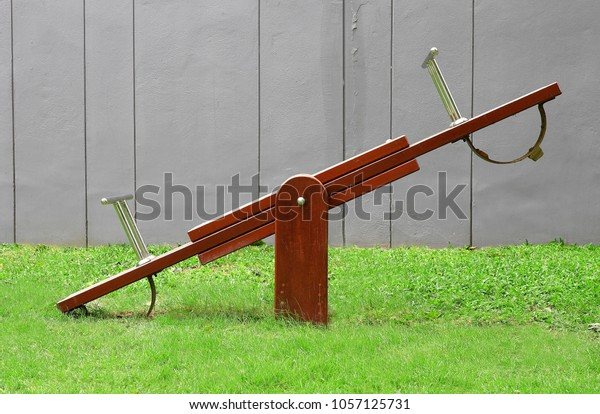 Modern Wooden Seesaw Kindergarten Playground Stock Photo Edit Now
