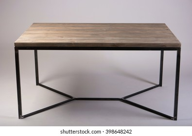 modern wooden table studio shot